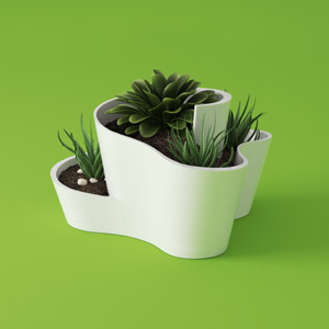 Cactus Planter Product Design byValle Thumbnail Jorge Valle